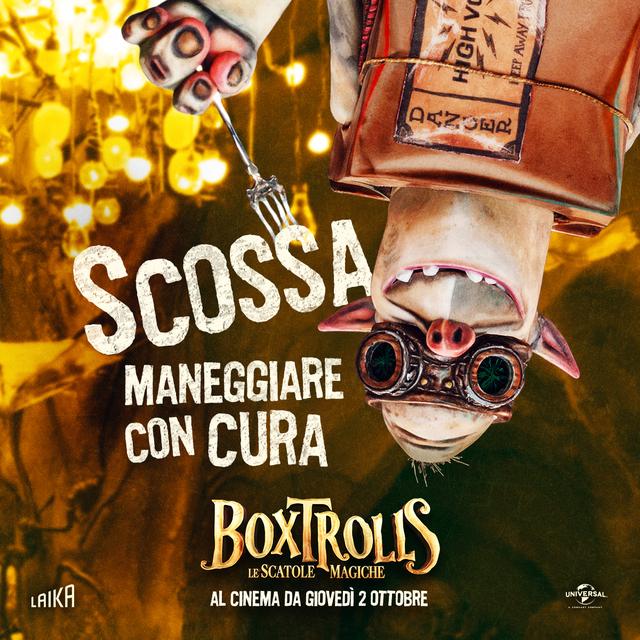 Due nuovi character poster di boxtrolls le scatole magiche