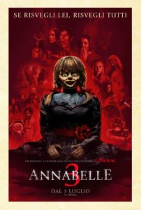 """Poster for the movie """"Annabelle 3"""""""